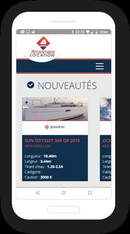 Version mobile, responsive Atlantique Location - Site Internet