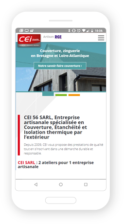 Version mobile, responsive CEI 56 - Site Internet