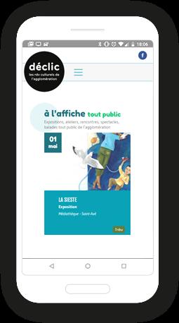 Version mobile, responsive Déclic Vannes Agglo - Site Internet