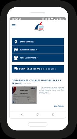 Version mobile, responsive Douarnenez Horta - Site Internet
