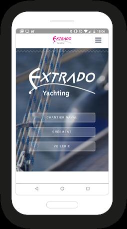 Version mobile, responsive Extrado - Site Internet