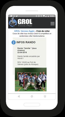 Version mobile, responsive Grol - Site Internet