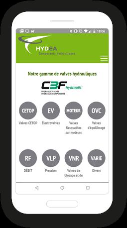 Version mobile, responsive Hydea - Site Internet