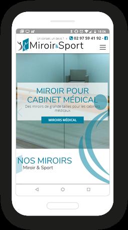 Version mobile, responsive Miroir & Sport - Site Internet