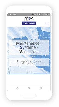 Version mobile, responsive MSV Sarl - Site Internet
