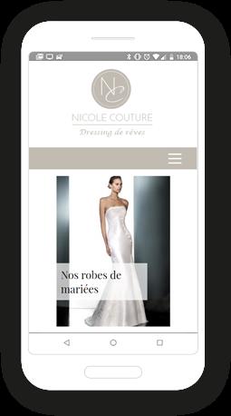 Version mobile, responsive Nicole Couture - Site Internet