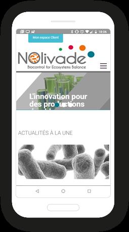 Version mobile, responsive Nolivade - Site Internet