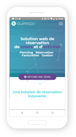 Version mobile, responsive Ouirésa - Site Internet