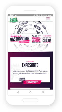 Version mobile, responsive Salon Saga Vannes - Site Internet