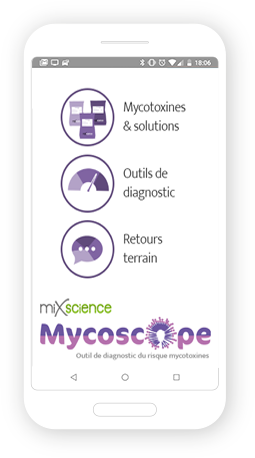 Version mobile, responsive Mycoscope - Application mobile