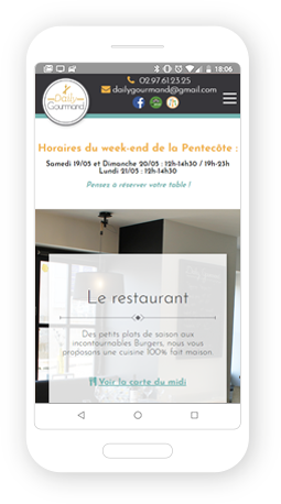 Version mobile, responsive Daily Gourmand - Site Internet