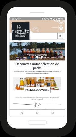 Version mobile, responsive La marmite bretonne - Infogérance