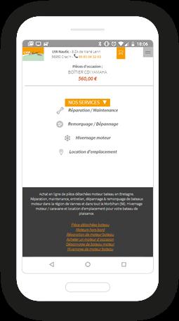 Version mobile, responsive LYA Nautic - Site Internet