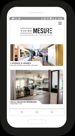 Version mobile, responsive Pleine Mesure - Site Internet