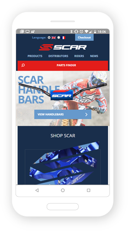 Version mobile, responsive Scar Racing - Infogérance