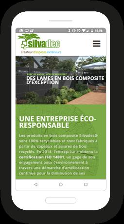 Version mobile, responsive Silvadec - Infogérance