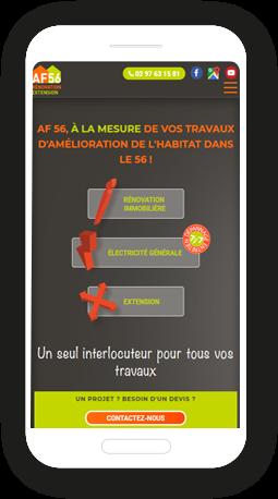 Version mobile, responsive AF56  - Site Internet