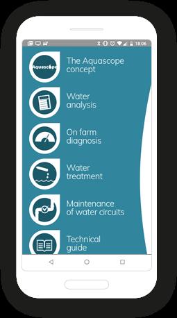 Version mobile, responsive Aquascope - Application mobile