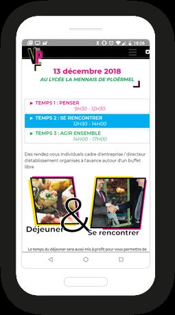 Version mobile, responsive États généraux de la Voie Professionnelle - Site Internet