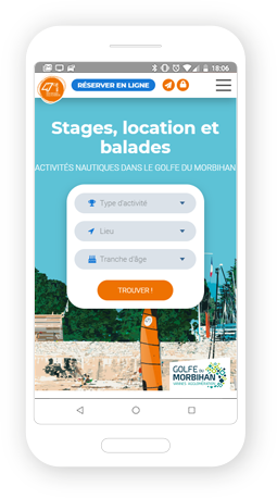 Version mobile, responsive 47° Nautik  - Site Internet