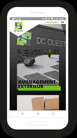 Version mobile, responsive DC Ouest - Site Internet
