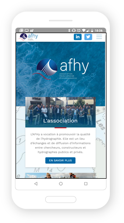 Version mobile, responsive AFHY - Site Internet