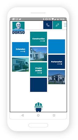 Version mobile, responsive Construction Dorso - Site Internet