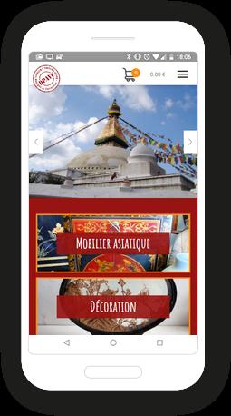 Version mobile, responsive Décors parfums d'ailleurs - Site Internet