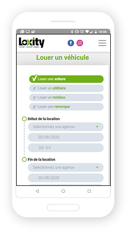 Version mobile, responsive Loxity - Site Internet