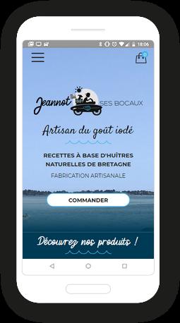 Version mobile, responsive Jeannot & ses bocaux - Site Internet