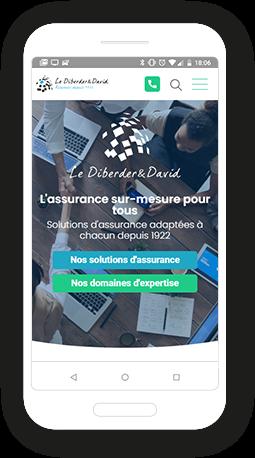Version mobile, responsive Le Diberder David - Site Internet