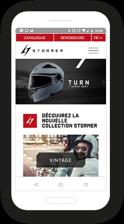 Version mobile, responsive Stormer - Site Internet