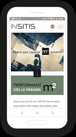 Version mobile, responsive Insitis - Site Internet