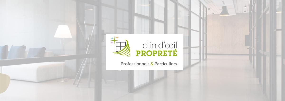 Présentation Clin d'œil propreté - Site Internet - Bretagne, Morbihan, Vannes (56)