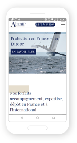 Version mobile, responsive Alian IP - Site Internet