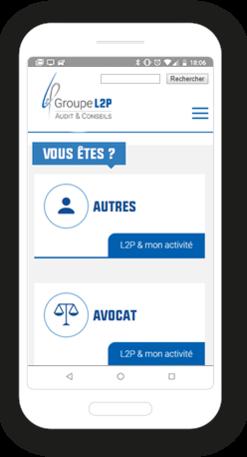 Version mobile, responsive Groupe L2P - Site Internet