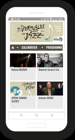 Version mobile, responsive Les hivernales du jazz - Site Internet
