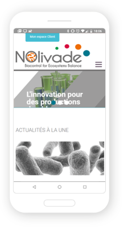 Version mobile, responsive Nolivade - Site Internet