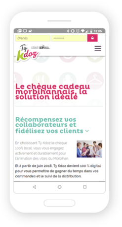 Version mobile, responsive Ty Kdoz - Site Internet