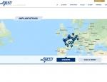 Page implantations du site Internet Aserti Group à Vannes dans le Morbihan 56