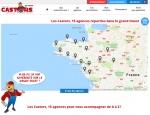 Page implantations du site Castors de l'Ouest, promotions et achats groupés à Vannes dans le Morbihan 56