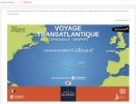 Page parcours du site Internet Voyage Transatlantique Gallimard à Vannes dans le Morbihan 56