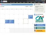 Page calendrier du site Internet Grol, Vannes Agglo à Vannes dans le Morbihan 56