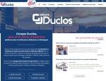 Page présentation du site Internet Groupe Duclos, poids lourds et utilitaires à Vannes dans le Morbihan 56