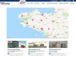 Page carte des implantations du site Internet Groupe Duclos, poids lourds et utilitaires à Vannes dans le Morbihan 56