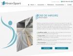 Page présentation du site Internet Miroir & Sport à Vannes dans le Morbihan 56