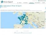 Page réalisations du site Internet Miroir & Sport à Vannes dans le Morbihan 56
