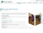 Page documentation du site Internet Miroir & Sport à Vannes dans le Morbihan 56