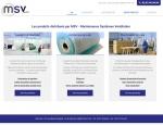 Page produits du site Internet MSV Sarl à Vannes dans le Morbihan 56