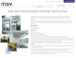 Page présentation du site Internet MSV Sarl à Vannes dans le Morbihan 56